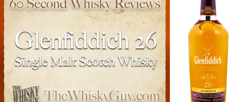 Does Glenfiddich 26 Single Malt Scotch Whisky belong in your liquor cabinet? Is it worth the price at the bar? Give The Whisky Guy 60 seconds and find out! In just 60 seconds, The Whisky Guy reviews Irish Whiskey, Scotch Whisky, Single Malt, Canadian Whisky, Bourbon Whiskey, Japanese Whisky and other whiskies from around the world. Find more at TheWhiskyGuy.com. All original content © Ari Shapiro - TheWhiskyGuy.com