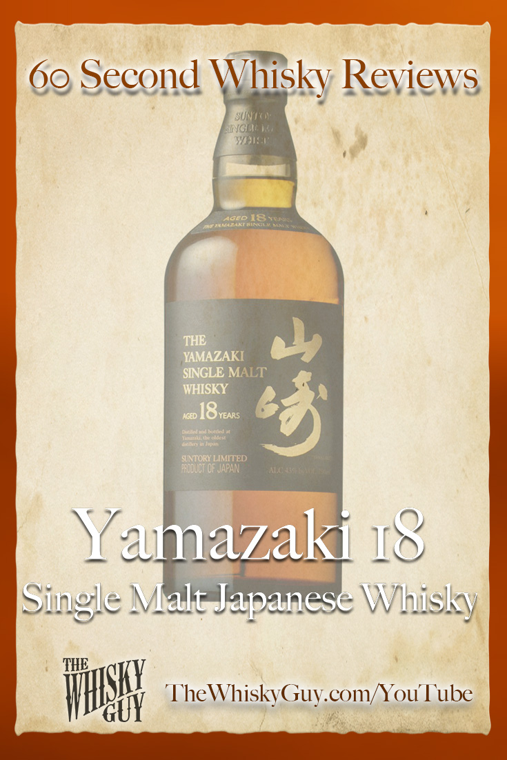 Should you spend your money on Yamazaki 18 Single Malt Japanese Whisky? Find out in 60 Seconds in Whisky Review #100 from TheWhiskyGuy! Watch and Subscribe at TheWhiskyGuy.com/YouTube