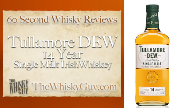Tullamore DEW is one of several distilleries that have popped up over the last few years in Ireland, but is their whiskey any good?? Give me 60 seconds and find out as The Whisky Guy tastes Tullamore DEW 14 Single Malt Irish Whiskey in 60 Second Whisky Review #101!