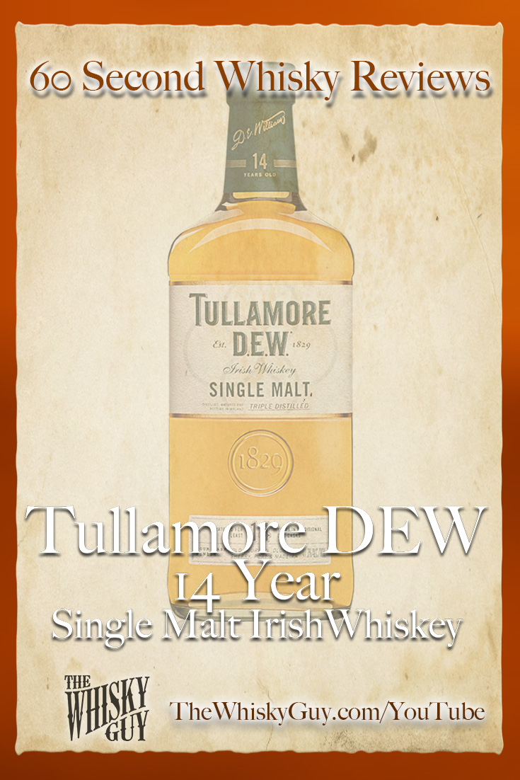 Should you spend your money on Tullamore DEW 14 Single Malt Irish Whiskey? Find out in 60 Seconds in Whisky Review #101 from TheWhiskyGuy! Watch and Subscribe at TheWhiskyGuy.com/YouTube