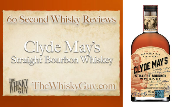 When talking about a bourbon, what does the word 'Straight' really mean, and why should you care? Give me 60 seconds and find out as The Whisky Guy tastes Clyde May's Straight Bourbon Whiskey in 60 Second Whisky Review #102!