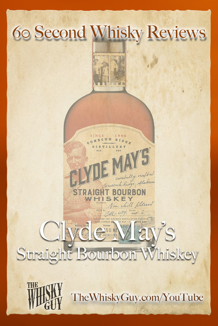 Should you spend your money on Clyde May's Straight Bourbon Whiskey? Find out in 60 Seconds in Whisky Review #102 from TheWhiskyGuy! Watch and Subscribe at TheWhiskyGuy.com/YouTube